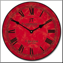 Sydni Red Wall Clock (SKU: JTC-SIDFR)