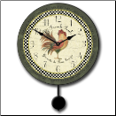 Le French Rooster Pendulum Green