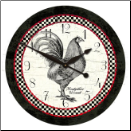 Rooster Kitchen Wall Clocks (SKU: JTC-ROSBKCK)