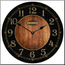 Anthone Black and Wood Clock