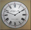 White Wall Clock (SKU: JTC-WHITE)