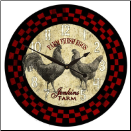 Rooster Clock Kitchen (SKU: JTC-ROSCHECKRED)