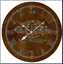 Brown Chocolate Sign Clock (SKU: JTC-CLWS)