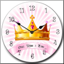 Girls Princess Clock (SKU: JTC-PRINCES)
