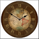 Old World Map Clock (SKU: JTC-MCRN)