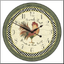 French Rooster Clock Vintage