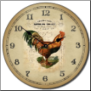 French Rooster Clock (SKU: JTC-ROFREN)
