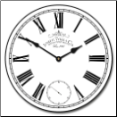 Swiss Time Clock White