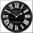 Pier 39 Black Wall Clock (SKU: JTC-PIER39BLK)