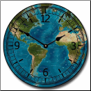 Blue Tropical Map Clock (SKU: JTC-TROPMAP)