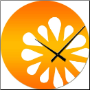 Orange Slice Clock (SKU: IDC-MODCO)