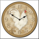 French White Hen Clock (SKU: JTC-FWH)