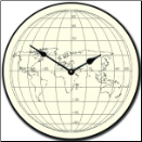 Line Drawing Map Clock