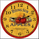 Red Apples Botanical Wall Clock (SKU: MDC-RSA12.5)