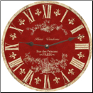 Red Toile Wall Clock (SKU: MDC-CRT-NEW)