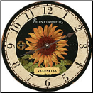 Sunflower Round Wall Clock (SKU: MDC-CVS)