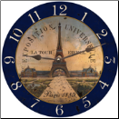 Eiffel Tower Decorative Wall Clock (SKU: MDC-ETWC)