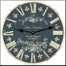 Blue  White Toile Wall Clock (SKU: MDC-BWTOILE)