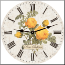 Floral Yellow Roses Wall Clock (SKU: MDC-YRWC12.5)