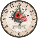 French Bouquet Wall Clock
