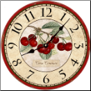 French Botanical Cherries Wall Clock (SKU: MDC-FBC)