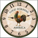 Rooster Clock Good Morning America (SKU: MDC-GMA)