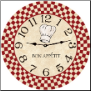 Bon Appetit Kitchen Wall Clock (SKU: MDC-BONAPT)