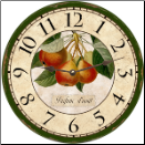 French Pears Wall Clock (SKU: MDC-FBP)