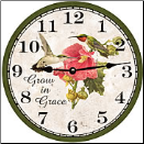 Hummingbird Round Wall Clock (SKU: MDC-GIG)