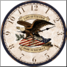 American Eagle Wall Clock (SKU: MDC-AEWC10)