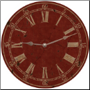 Classic Vintage Red Wall Clock (SKU: MDC-RRED)