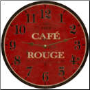 French Cafe Rouge Wall Clock (SKU: MDC-FCROUGE10)