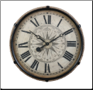 Derby Compass Clock Black (SKU: PDLX-DWCCMLBK)