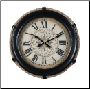 Derby Compass Clock Small Black (SKU: PDLX-DWCCMSBK)