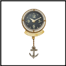 First Mate Wall Clock Nautical