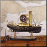 Steamboat Table Clock Brass (SKU: PDLX-TCSTEBR)