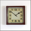 Red Station Square Clock (SKU: PDLX-W-GSS-RD)