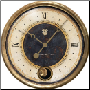 "Caffe Venezia Black Clock 16"" Trademark Time (SKU: TTC-CVB16IP)"