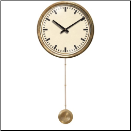 Mid Century Cream Clock Brass Pendulum