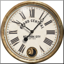 Grand Central White Pendulum Clock