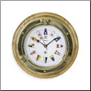 Brass Porthole Wall Clock (SKU: BBSQ517)
