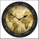 Map Clock World Traveler