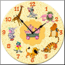 Circus Animals Children's Wall Clock (SKU: DMCIRC9C)