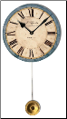 Rossiter Blue Pendulum Clock Trademark Time