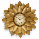Midas Wall Clock Infinity (SKU: IN14472GD-3210)