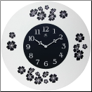 Blossom Floral Clock (SKU: IN14739WH-3758BK)