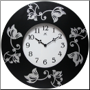 Lily Floral Clock (SKU: In14738BK-3758)