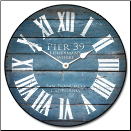 Pier 39 Wall Clock-Many Sizes (SKU: JTC-P39BLUE)