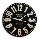 Antique de Paris Black-White Clock (SKU: JTC-ANTDEPARIS)