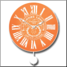 Galleria Orange Pendulum Clock